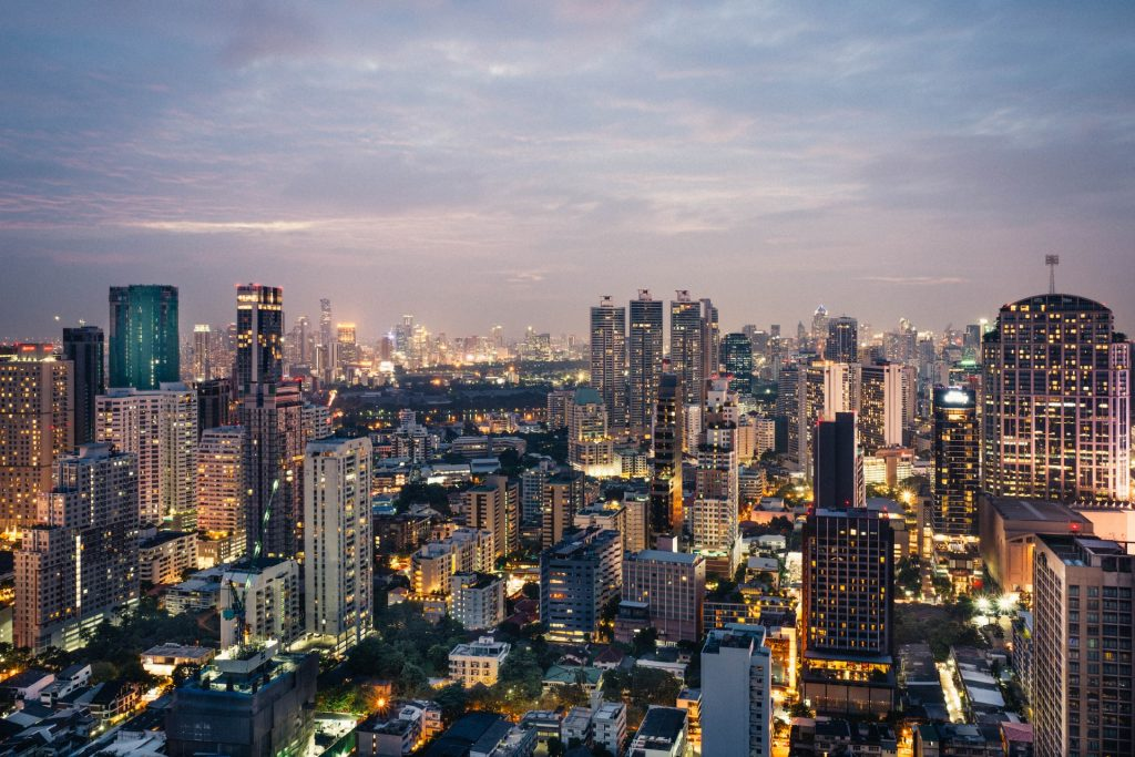 Blick über Großstadt